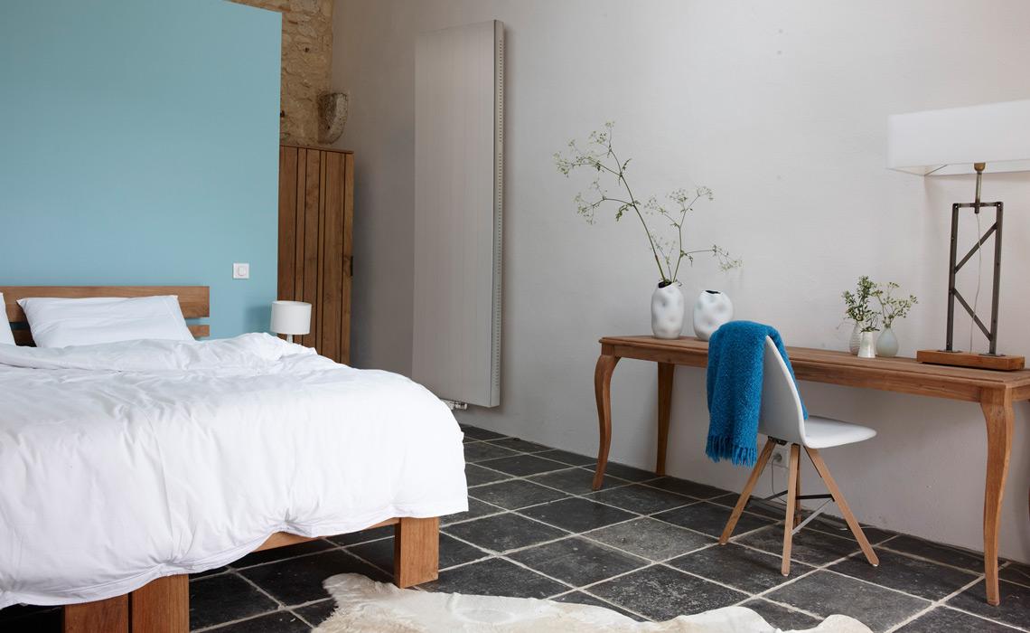 Schlafzimmer und bad in einem raum