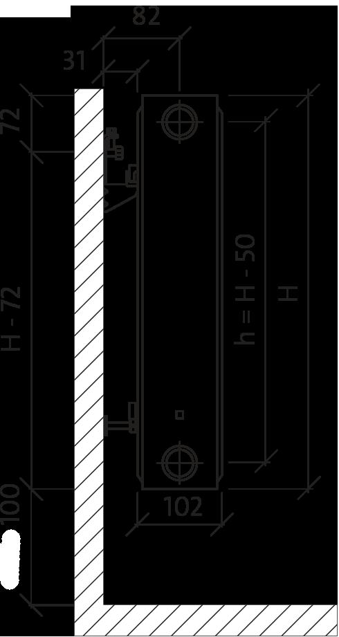 PURMO C Тип 22 600x600 (1298 Вт)