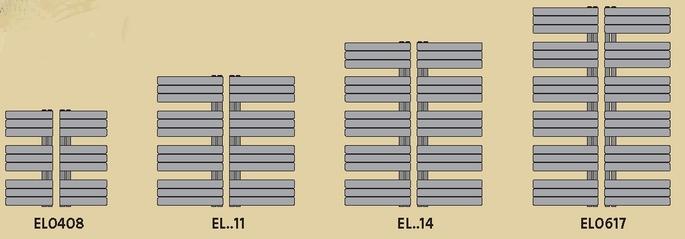 Wymiary grzejnika łazienkowego Elato