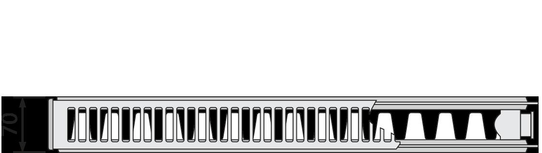 Стальной панельный радиатор Purmo Compact тип C21S 500х2600