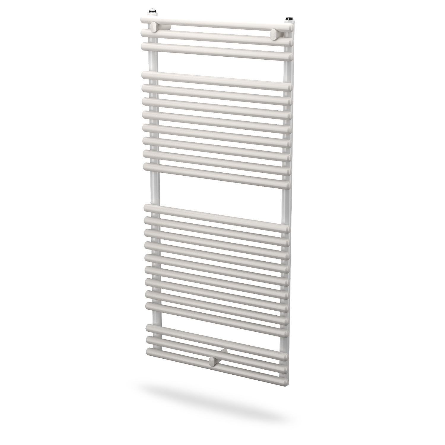 Double towel rail Chrome Plated with Venetian Style Glass Back Plate