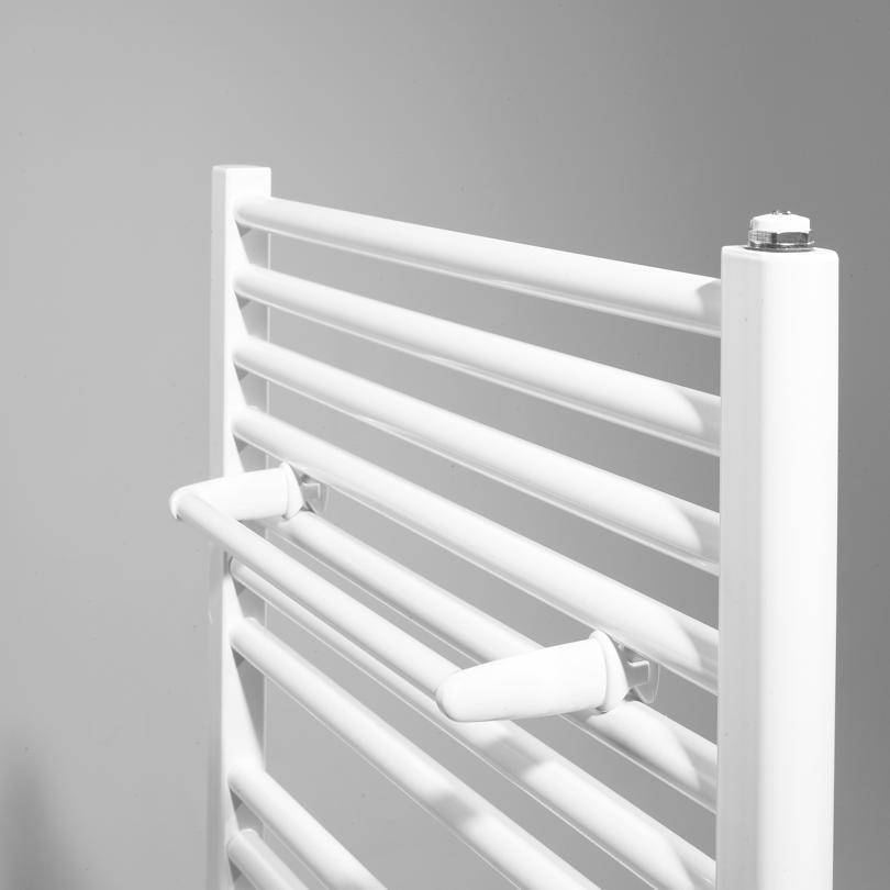 Barre porte-serviettes droit - tubes ronds