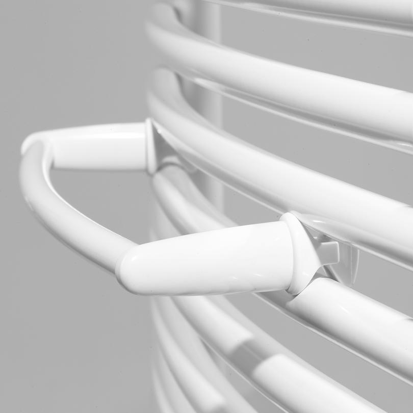 Barre porte-serviettes cintrée - tubes ronds