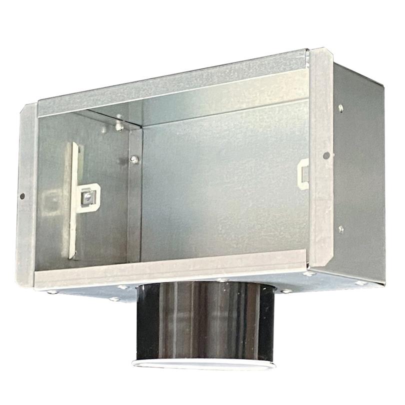Plenum con attacco laterale per griglia 200x100 mm