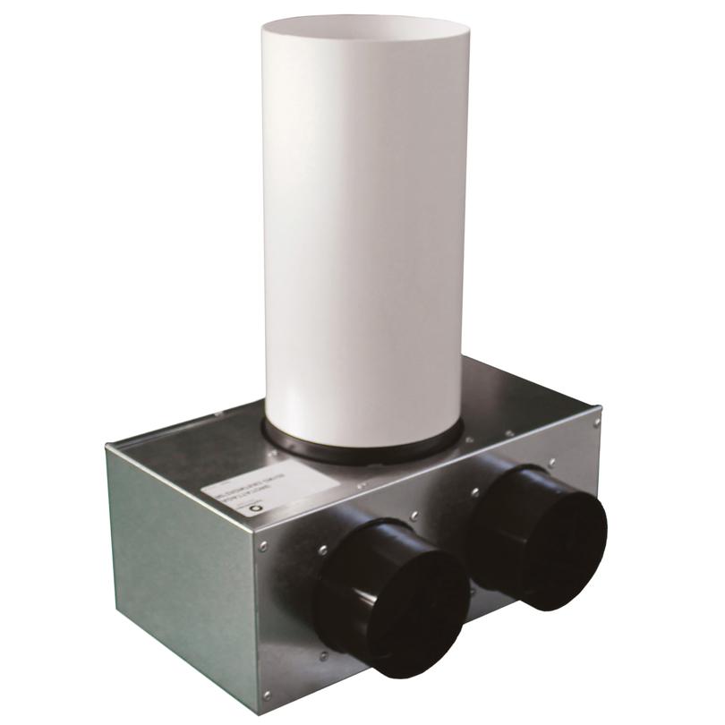 Plenum terminale ad angolo 90° in lamiera zincata
