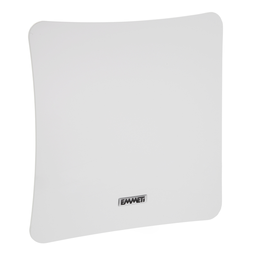 Bocchetta quadrata in ABS bianco lucido