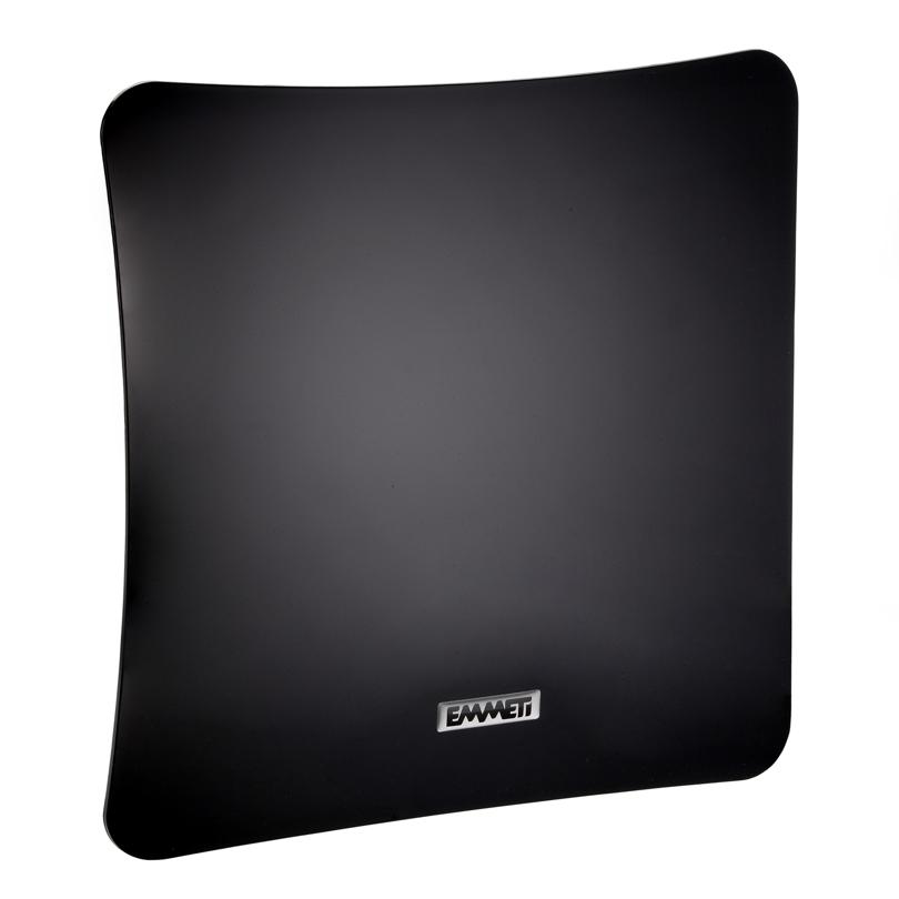 Bocchetta quadrata in ABS nero lucido