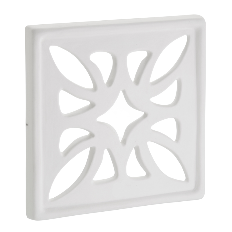 Bocchetta quadrata in Gres Ceramico bianco opaco