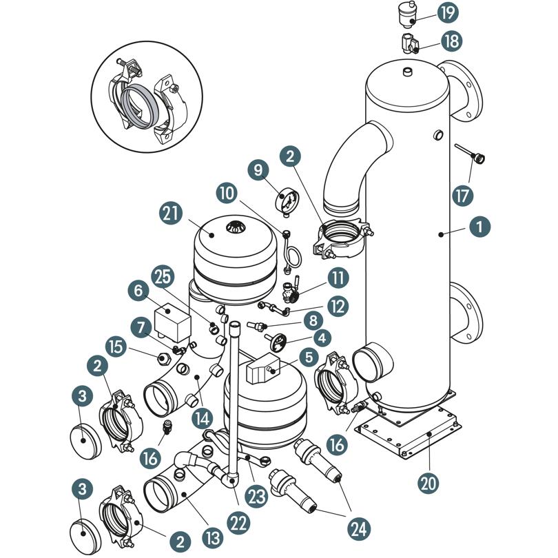 Kit disgiuntore idraulico DN100 con kit INAIL