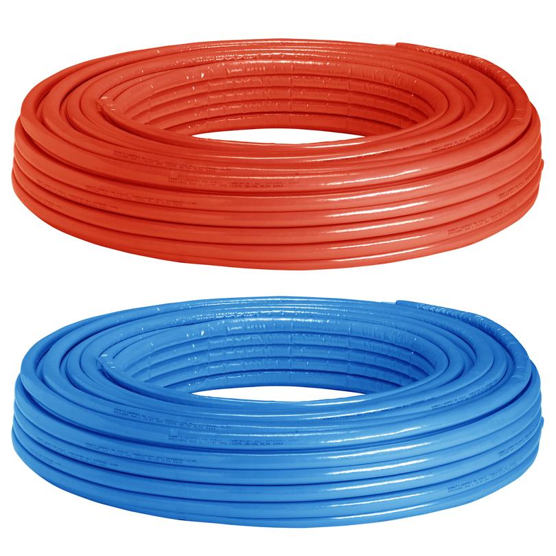 Tubo doppio Gerpex RA isolato di colore rosso e azzurro