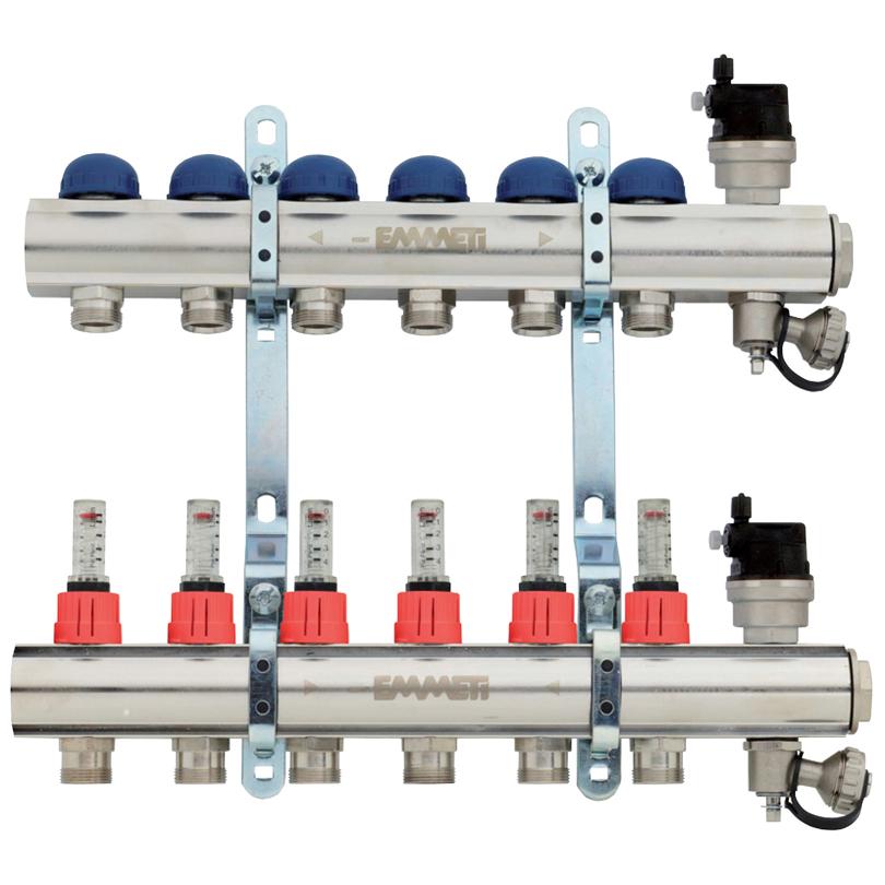 Collettore Topway con misuratori di portata 0-4 l/min