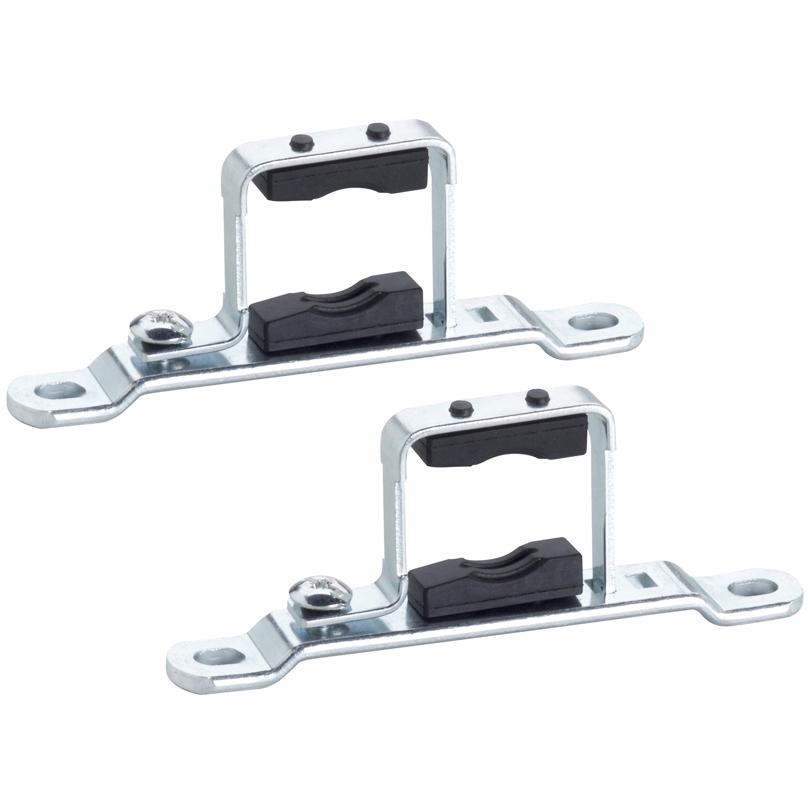 Coppia supporto metallico singolo