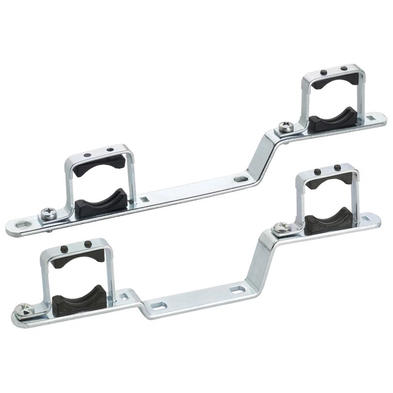 Coppia supporto metallico doppio