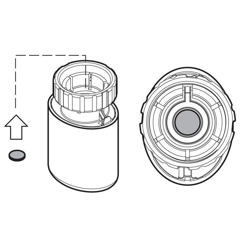 Adattatore per teste elettrotermche Control T