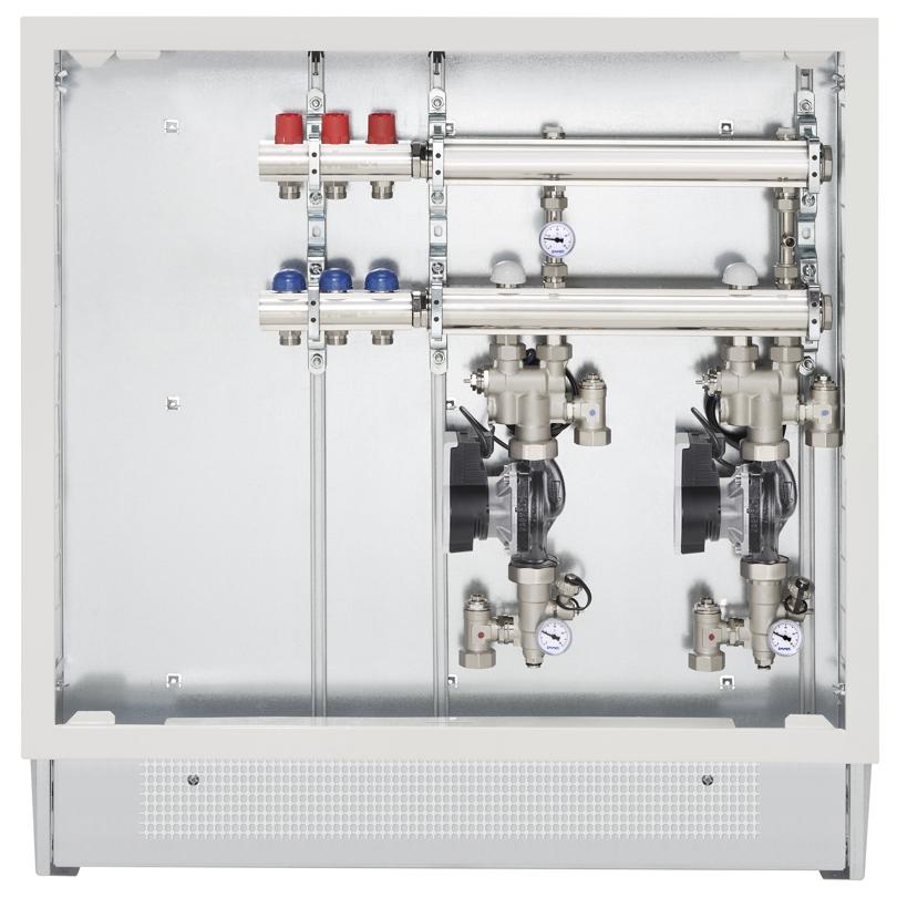 Modular Firstbox in cassetta con attacchi per radiatori
