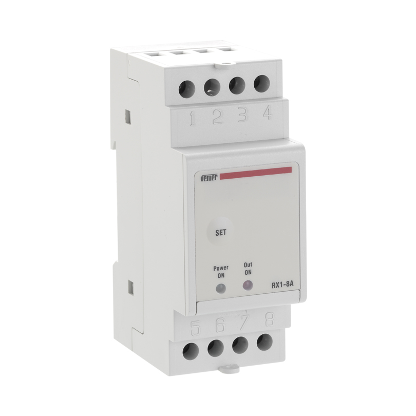 Attuatore radio frequenza da barra DIN ad un canale