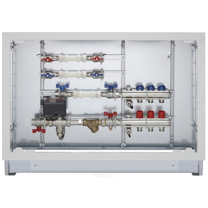 """Energy Box con collettori mandata-ritorno da 1"""" e ACS"""