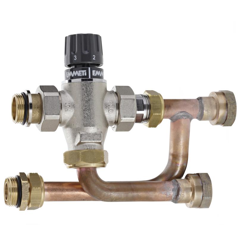 Kit di miscelazione termostatica per acqua sanitaria