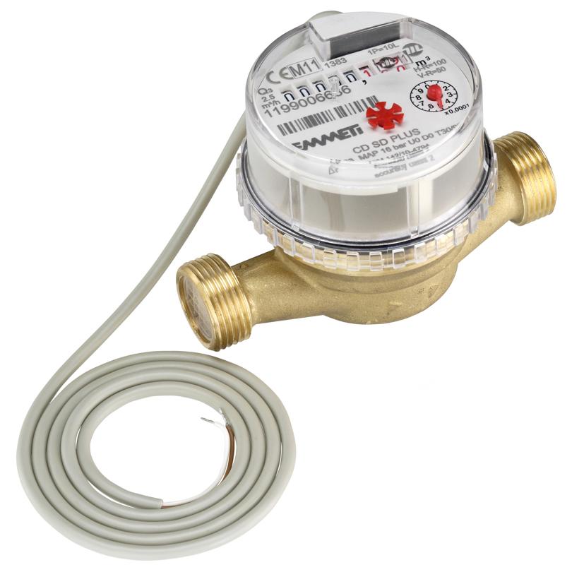 Contatore volumetrico DN20 lanciaimpulsi acqua calda