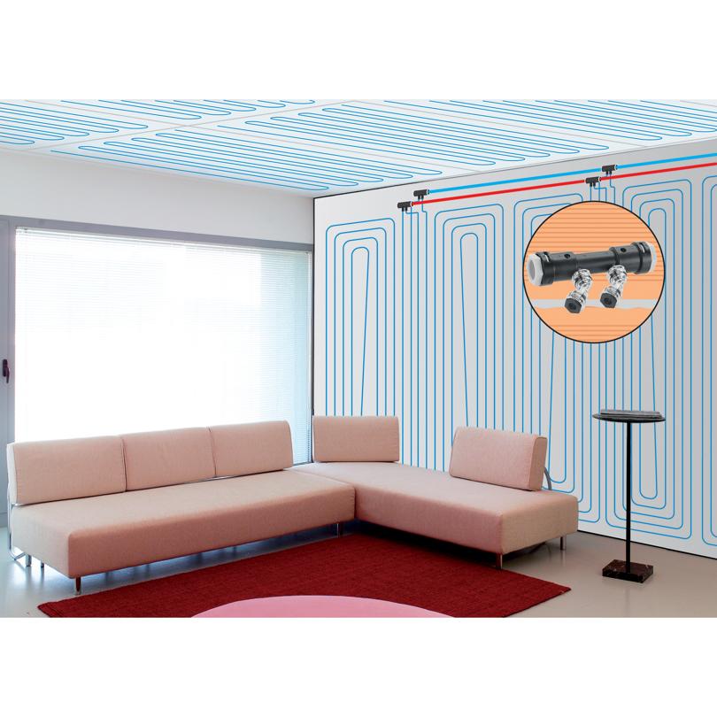 Sistema Emmeti Plasterboard - Installazione a Soffitto