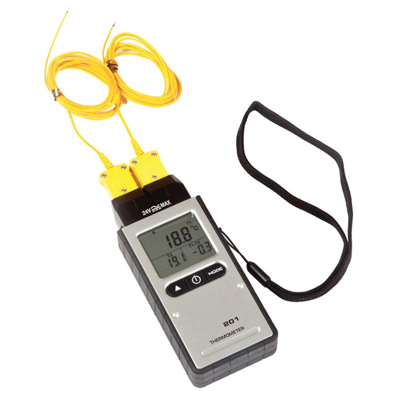 Termometro digitale a doppia sonda