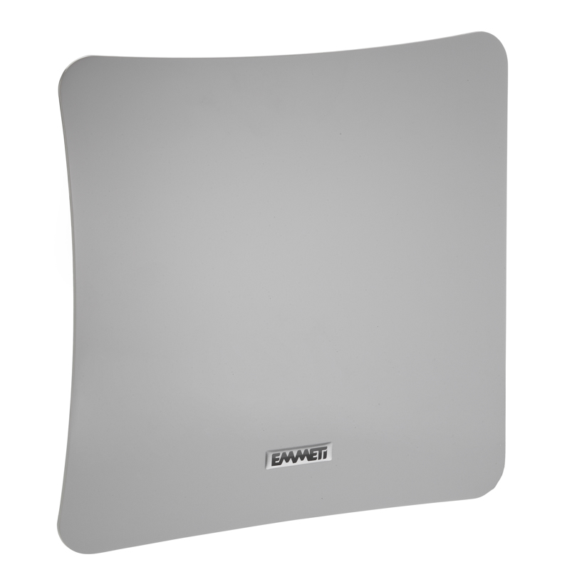 Bocchetta quadrata in ABS grigio lucido