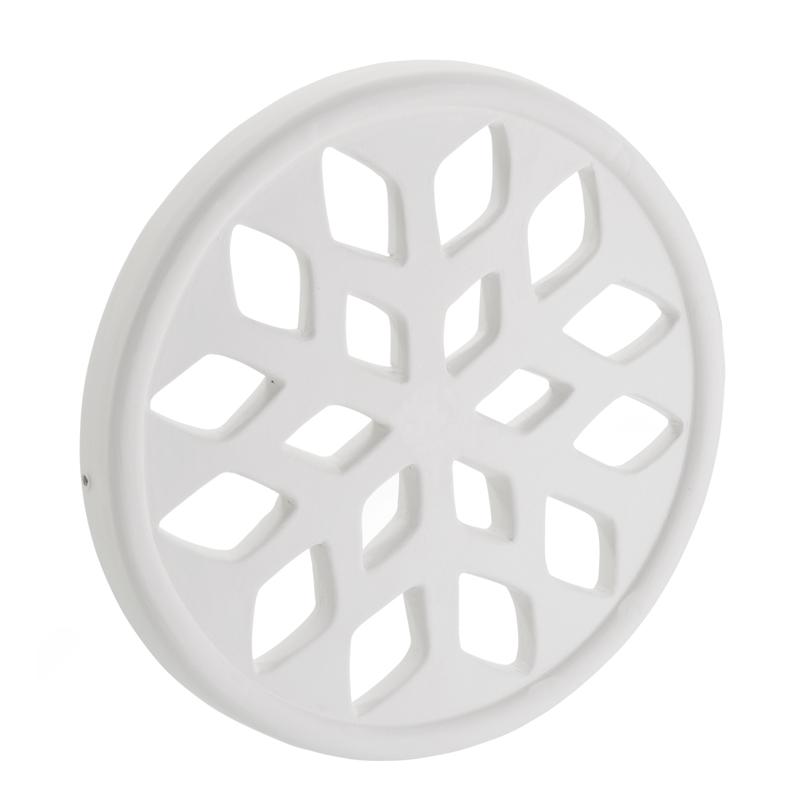Bocchetta circolare in Gres Ceramico bianco opaco
