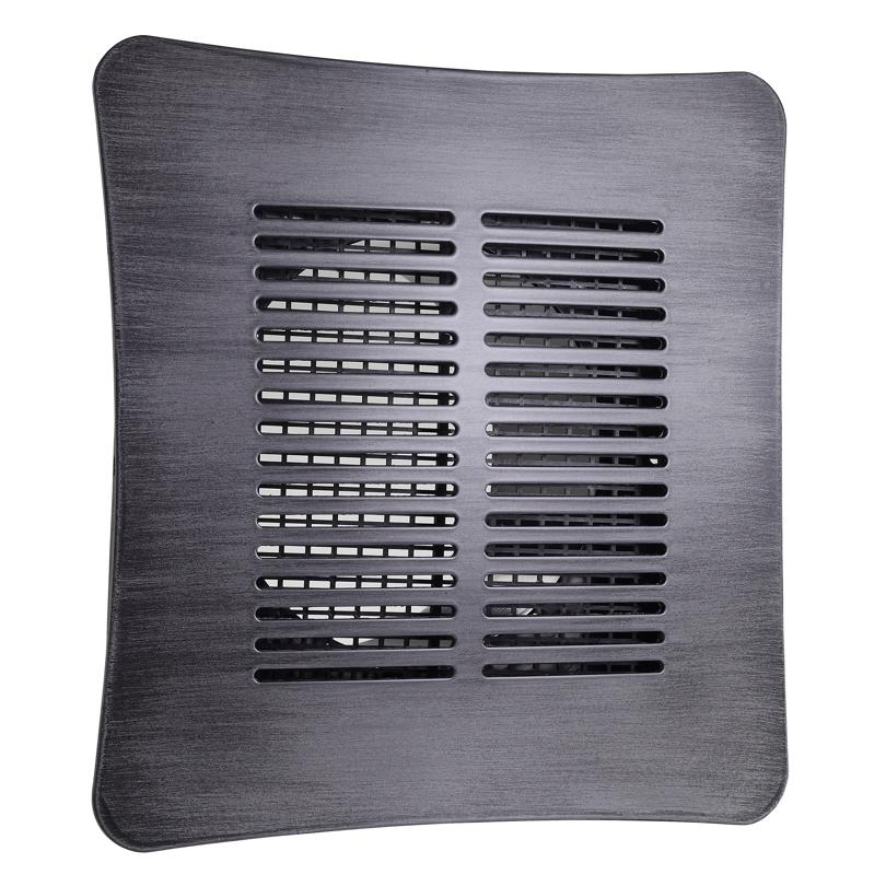 Bocchetta quadrata in Acciacio Inox grigio opaco
