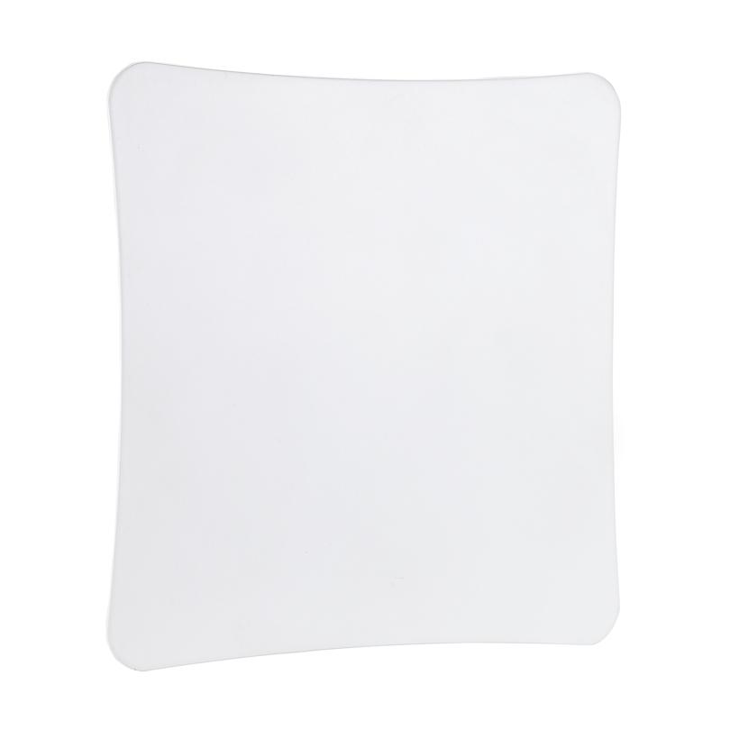 Bocchetta quadrata in Acciacio Inox mm bianco opaco