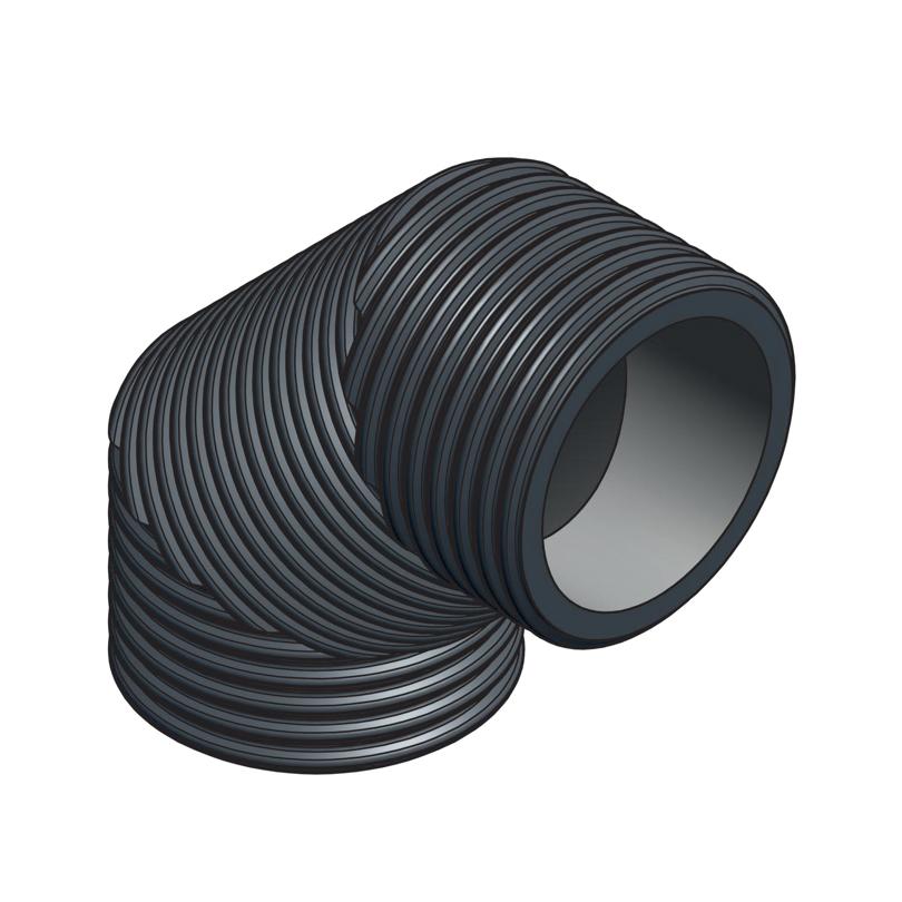 Curva 90° isolata in HDPE