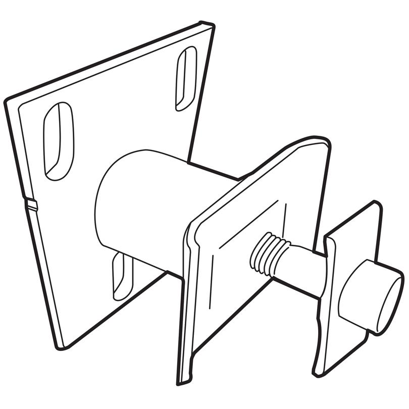 Mensola a parete (per radiatori H = 155 mm)