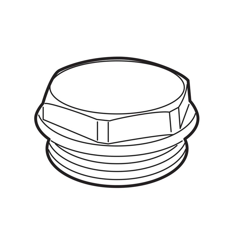 Tappo cieco con O-Ring con calotta bianca