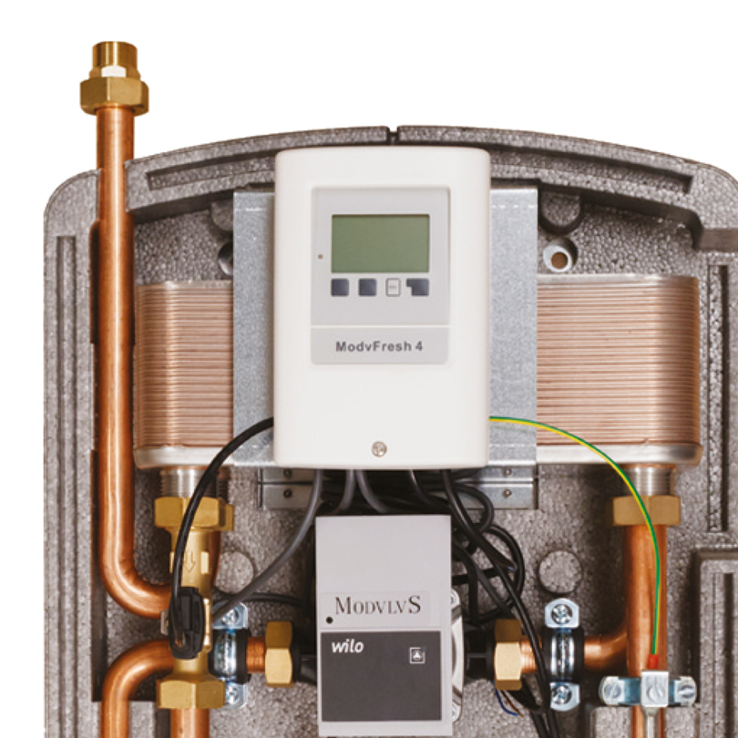 Kit produzione acqua calda sanitaria istantanea