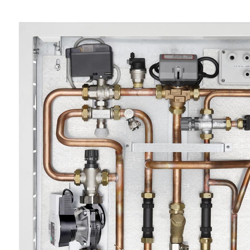 Moduli in cassetta con produzione acqua calda sanitaria