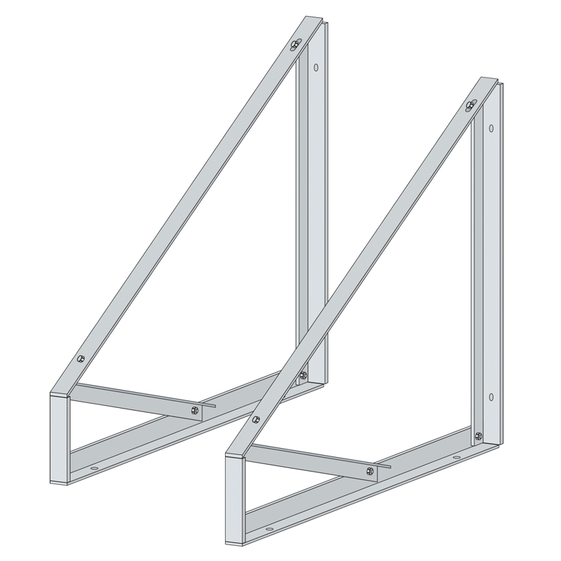 Set sostegno doppio (2 pz) fisso 30° per tetto piano