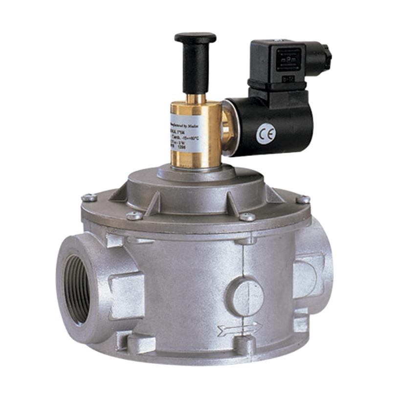 Elettrovalvola gas riarmo manuale NA in alluminio
