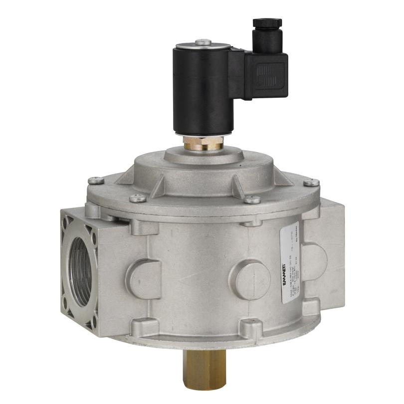 Elettrovalvola gas riarmo manuale NC in alluminio