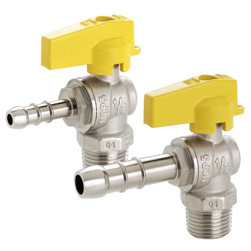 Rubinetto gas sq - attacco impianto M 1/2 e portagomma