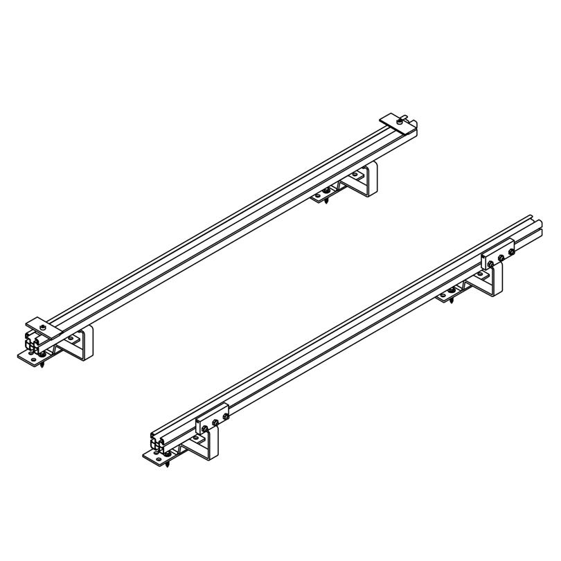Set montaggio parallelo a tetto di coppi/tegole