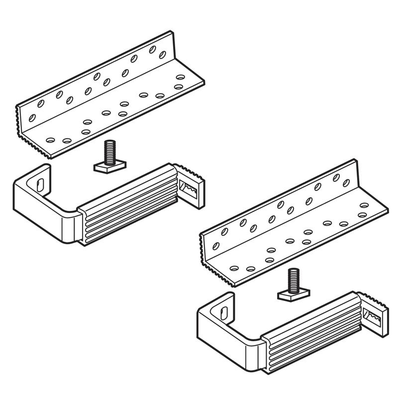 Set sostegno doppio regolabile tetto tegole/coppi