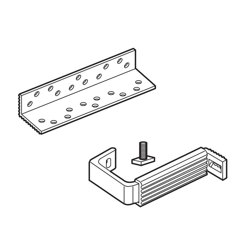 Set sostegno estensione regolabile tetto tegole/coppi