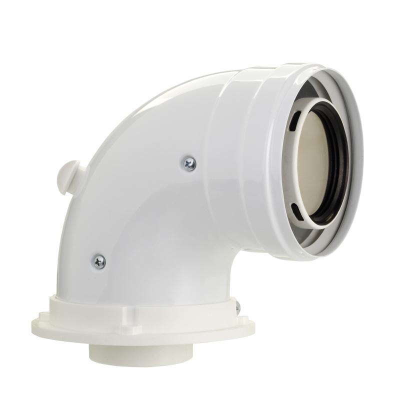 Curva concentrica con presa prelievo aria/fumi