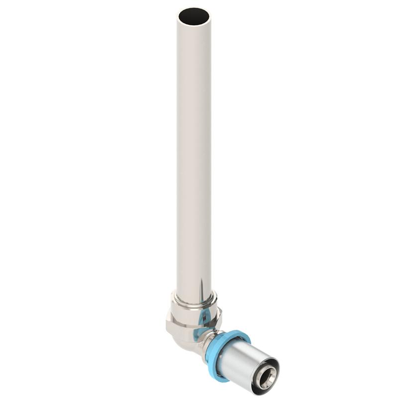 Raccordo curvo con tubo rame, nichelato, Gerpex LBP