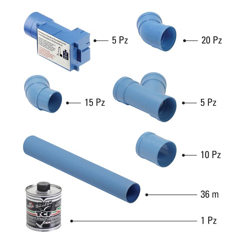 Kit predisposizione per tubazione Ø 50 mm 5 punti presa