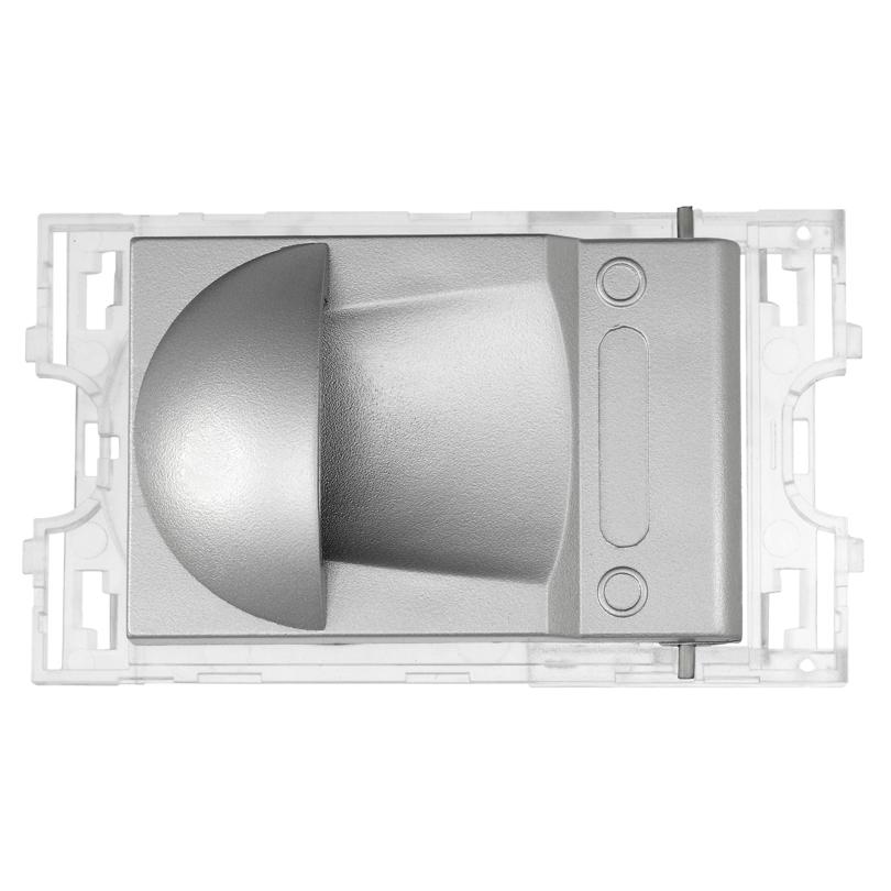 Presa semiautomatica grigio metallizzato chiaro lucido