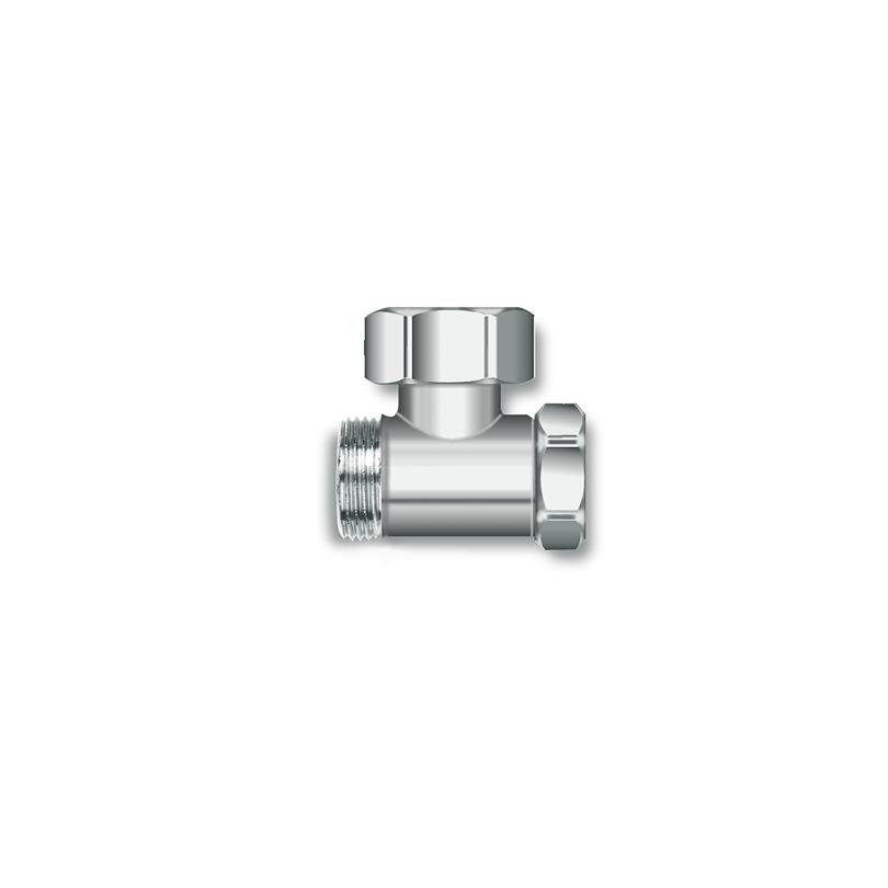 Angled shut-off valve SV
