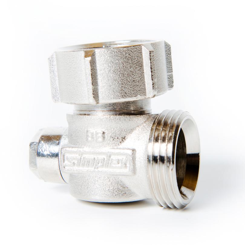 Angled shut-off valve G3/4 - G3/4