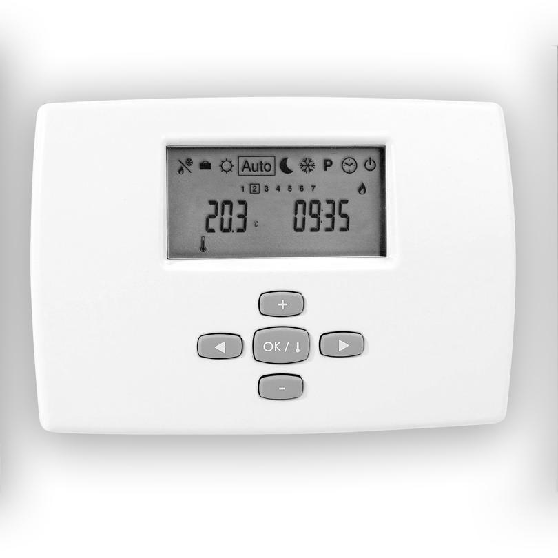 Thermostat d'ambiance avec horloge RF